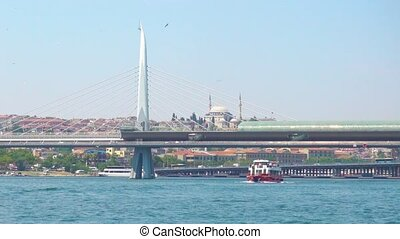 Golden Horn Metro Bridge in Istanbul - The Golden Horn Metro...