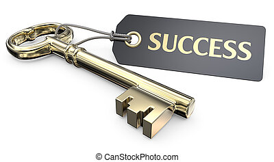 The golden Key to Success.
