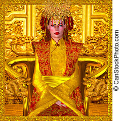 The Golden Queen Of Shanghai,China.
