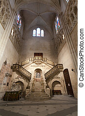 Golden staircase, Cathedral of Burgos (Spain) - The Golden...
