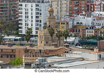 The Golden Tower (Torro del Oro) in Seville, Spain