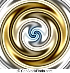 golden twirl backround