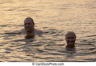 the golden water