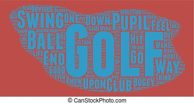 The Golf Bogey Number One text background wordcloud concept