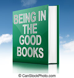 The good books concept. - Illustration depicting a book with...