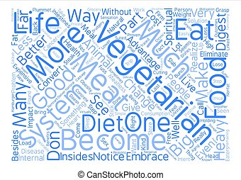 The Good of Vegetarianism Word Cloud Concept Text Background