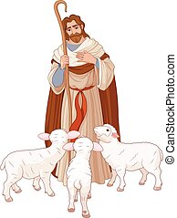 The Good Shepherd - Illustration of Jesus Christ is the good...