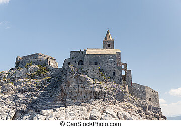 The Gothic Church of St. Peter, in Portovenere Italy