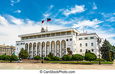 The Government Building of Dagestan in Makhachkala, Russia...
