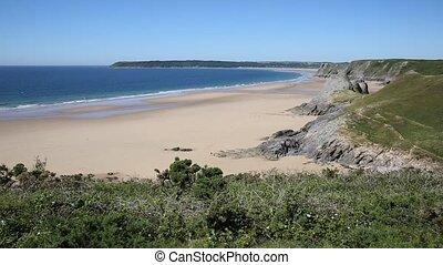 The Gower coast Three Cliffs bay