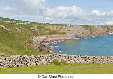 The Gower Fall Bay wales Rhossili