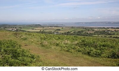 The Gower peninsula South Wales UK view of Welsh countryside...