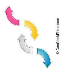 The gradient arrows set