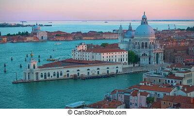 The Grand Canal and Santa Maria della Salute church in...