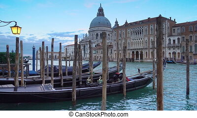 The Grand Canal and Santa Maria della Salute church in...