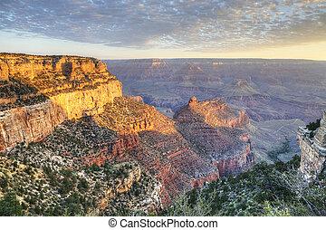 The Grand Canyon, Arizona, at sunset