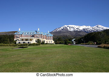 The Grand Chateau in the Tongariro national park, New Zealand