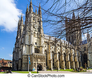 The grand Goth Style Canterbury Cathedral, Kent England UK