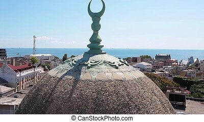 The Grand Mosque In Constanta Romania - Detailed view of the...