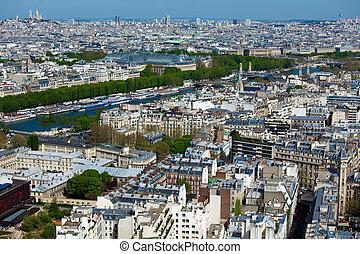 The Grand Palais - aerial view from Eiffel Tower, Paris, France