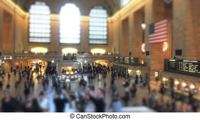 The Grand terminal train in NYC - Shot of The Grand terminal...