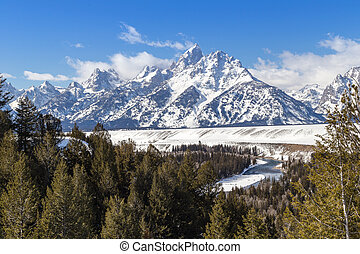 The Grand Teton in western Wyoming.