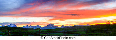 The Grand Tetons in Wyoming.