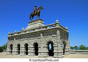 The Grant Memorial in Lincoln Park, Chicago, IL, USA