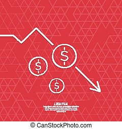 Loss of points Currency. - The graph shows the fall and ...