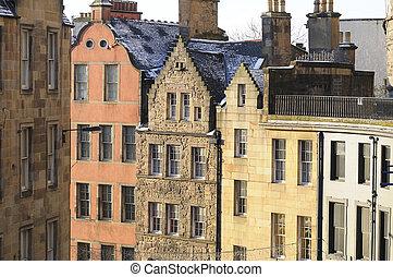 The Grassmarket, Edinburgh - Gable ends in the historic...