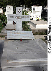 The grave of the father of Blessed Mother Teresa of Calcutta at the cemetery in Skopje