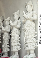 the graven image in the temple Lamphun, Thailand