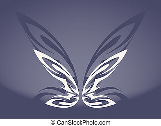 The gray butterfly