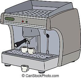 The gray espresso maker