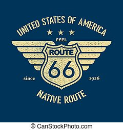 The Great American Road - Tee Design For Print. Vector...