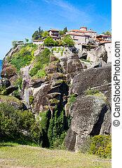 The Great Meteoro Monastery in Meteora rocks, Kalambaka, Trikala, Greece