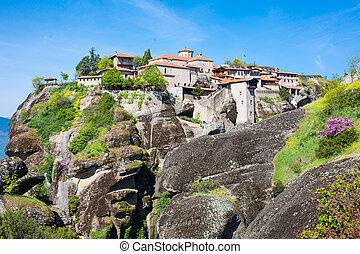 The Great Meteoro Monastery in Meteora rocks, Kalambaka, ...