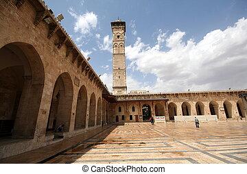 mosque in Alepo - The great mosque in Alepo, Siria