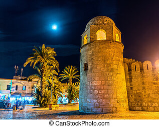The Great Mosque of Sousse at night. Tunisia, North Africa