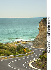 A windy stretch of the Great Ocean Road, God's gift to recreational drivers.