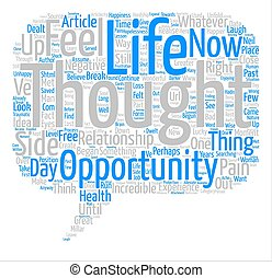 The Great Opportunity text background word cloud concept