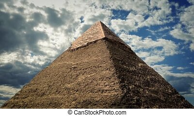 The Great Pyramid Against Dramatic Sky - The Great Pyramid...