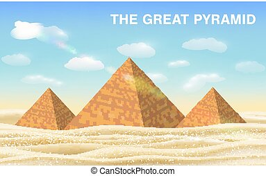 the great pyramid of giza in desert