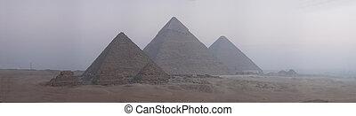 The Great Pyramids - Pyramids panorama 4340x1260. Larger...
