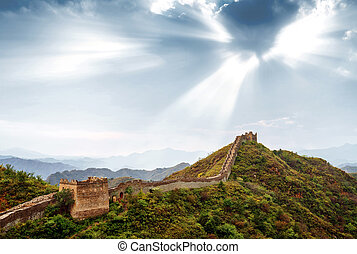 The Great Wall of China. - greatwall the landmark of china...