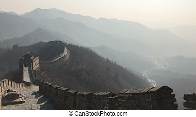 The Great Wall of China photographed during daytime without...
