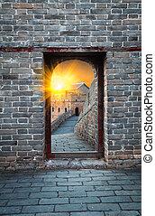 Great Wall outside door and the door