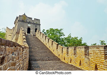 The Great Wall - Section of The Great Wall in mutianyu site,...