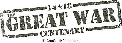 The Great War Centenary - inkpad - Vector illustration, The...