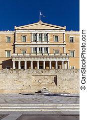 The Greek parliament in Athens, Attica, Greece